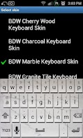 Screenshot of Marble Tile Keyboard Skin
