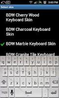 Screenshot of Marble Tile Keyboard Skin