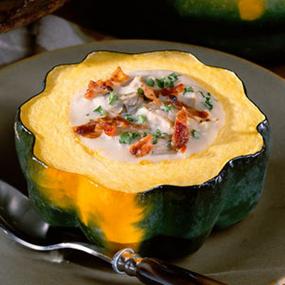Creamed Oysters in Acorn Squash