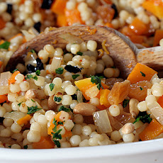 Israeli Couscous with Butternut Squash and Preserved Lemons
