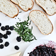 Fontina + Blackberry Basil Smash Grilled Cheese Sandwiches