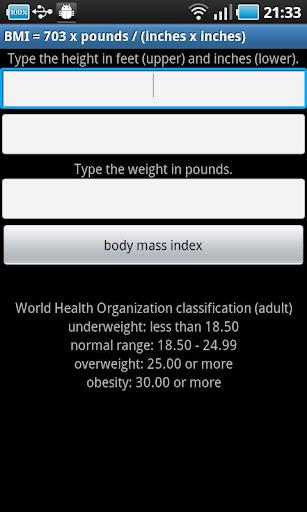BMI pound
