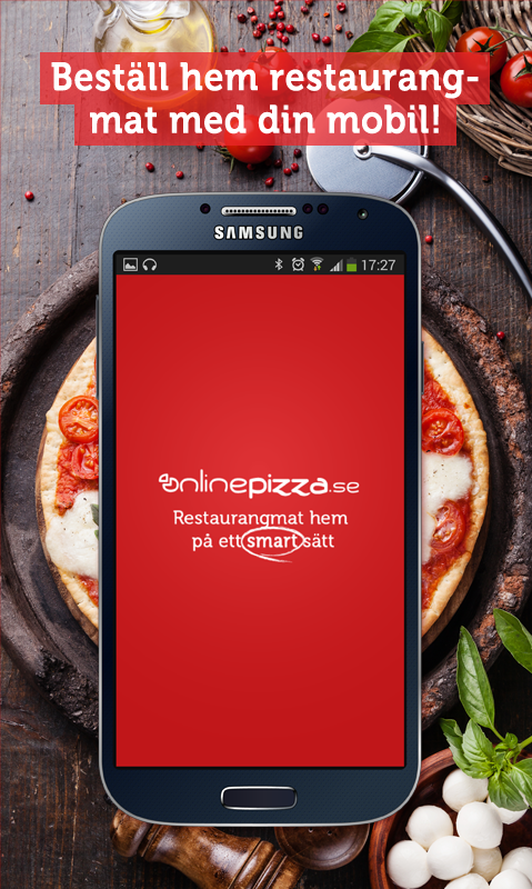 OnlinePizza food delivery app Screenshot