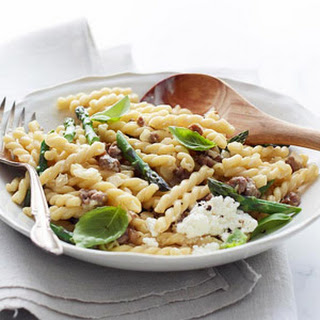 Gemelli with Asparagus and Sausage