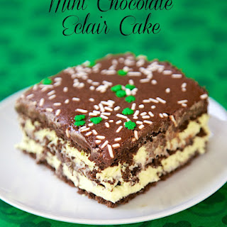 Mint Chocolate Eclair Cake
