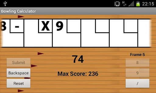 Bowling Calculator