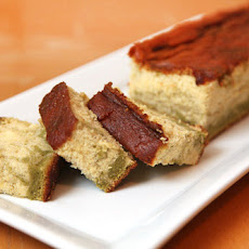 Green Tea and Lemon Honey Marbled Castella (kasutera) Sponge Cake