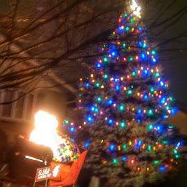 by Lloyd Litten - News & Events Entertainment ( mood, mood factory, holiday, christmas, hanukkah, red, green, lights, artifical, lighting, colors, Kwanzaa, blue, black, celebrate, tis the season, festive )