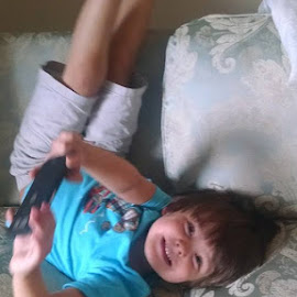 This is how my little man plays games on my phone by Tiffany Smith-Capone - Babies & Children Toddlers