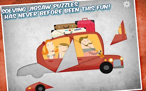 직소 퍼즐과 자동차