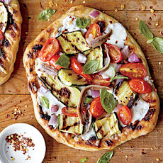 Grilled Vegetable Pizzas with Anchovies