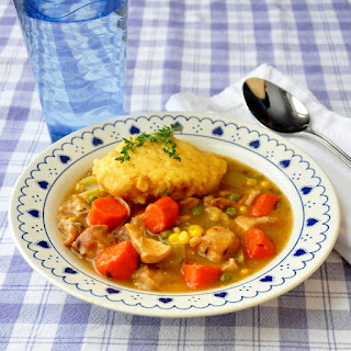 Sage and Thyme Chicken Stew with Cornbread Dumplings