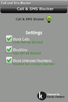 Screenshot of Call and Sms Blocker