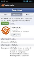 Screenshot of VEA RADIO