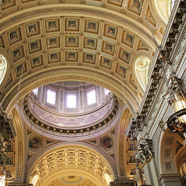 Amazing Ceiling  by Anna Tripodi - Buildings & Architecture Architectural Detail ( church, awesome, beautiful, great pic, place, Architecture, Ceilings, Ceiling, Buildings, Building )