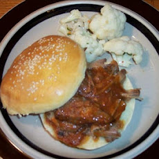 Slow Cooker Southern Barbecue Pork on a Bun