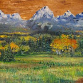 The Grand Tetons by Karin Keller - Painting All Painting ( mountains, art, original oil, painting, grand teton national park )