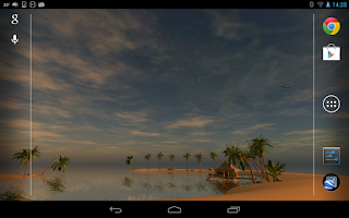 Screenshot of Maldives 3D LWP, True Weather