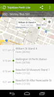 Screenshot of TripMate Perth Lite Transit