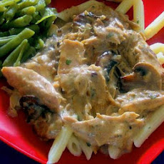 Chicken With Wild Mushrooms and Balsamic Cream Sauce