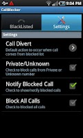 Screenshot of CallBlocker