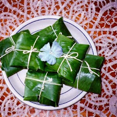 Conkies: Cornmeal and Raisin Pudding in Banana Leaves