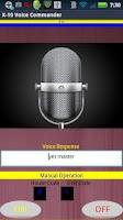 Screenshot of X-10 Voice Commander