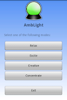 Screenshot of AmbientLight - mood stimulator