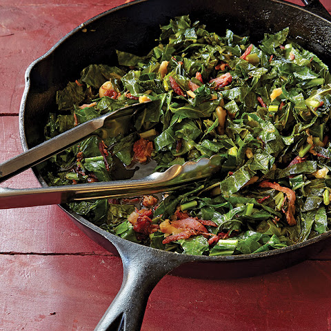 Garlicky Skillet Greens with Ham