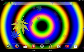 Screenshot of Weed Spiral Live Wallpaper