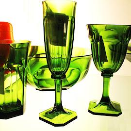 Green Glass - Zagreb,Croatia by Jerko Čačić - Artistic Objects Glass