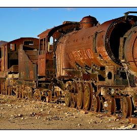 Train cemetary 03 by Guy Gillade - Transportation Trains ( cemetary, train, uyuni )