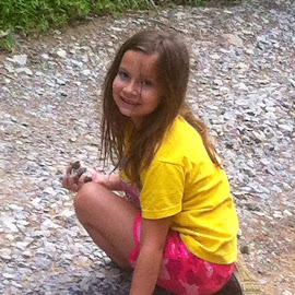 My Baby Girl by Linda Blevins - Babies & Children Children Candids ( water, mud, beauty, rocks )