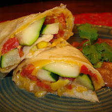 Mexican Zucchini and Corn Burrito