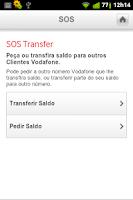 Screenshot of Vodafone SOS Saldo