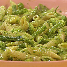 Three Vegetable Penne with Tarragon-Basil Pesto