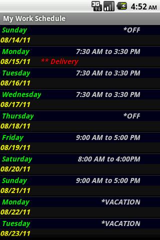 My Work Schedule Pro