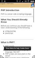 Screenshot of PHP Programming Reference (new
