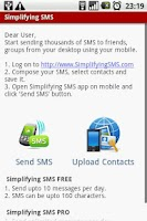 Screenshot of Simplifying SMS