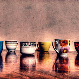 Tazzine by Michele De Stefano - Artistic Objects Cups, Plates & Utensils ( cup, colore, coffee, tazzina, caffè, riflesso,  )