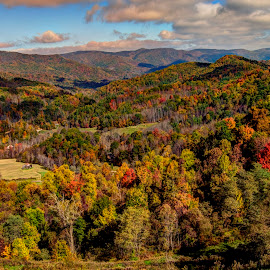 Tennessee mountains in fall by Steven Faucette - Landscapes Mountains & Hills ( mountains, fall )