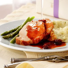 Roasted Pork Loin with Tart Cherry-Port Sauce