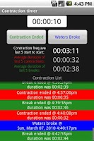Screenshot of Pregnancy Contraction Timer