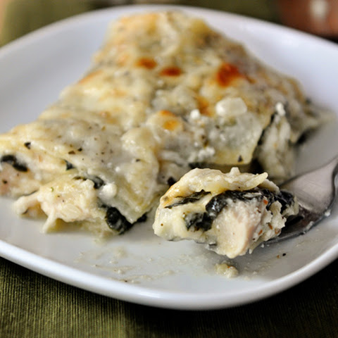 White Chicken and Spinach Lasagna