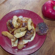Sausage Sandwich with Sauteed Apple Slices