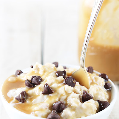 Salted Caramel Chocolate Chip Cookie Oatmeal