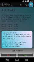 Screenshot of Enigma +: Brain teasers