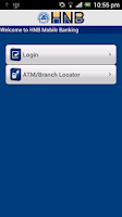 Screenshot of HNB Mobile Banking