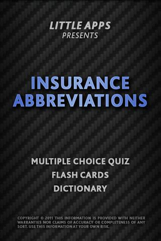 INSURANCE ABBREVIATIONS