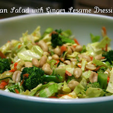Asian Broccoli Salad with Sesame Ginger Dressing